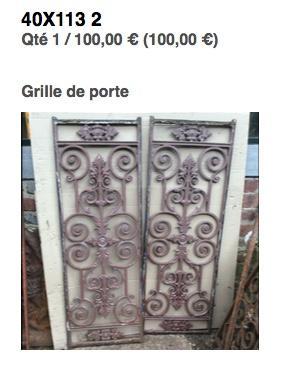 grille de porte 1 paire