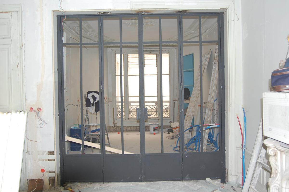 Porte vitr e m tal s paration de pi ce - Porte separation vitree ...